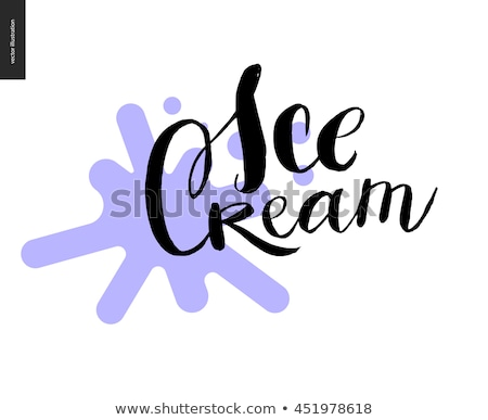 Ice Cream lettering and a violet blot stock photo © grivina