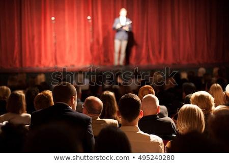 Komedie komiek praten microfoon leuk Stockfoto © coolgraphic