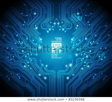 tech · heldere · circuit · board · vector · ontwerp · textuur - stockfoto © saicle