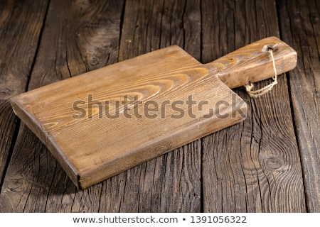 Stock photo: Round cutting board with groove