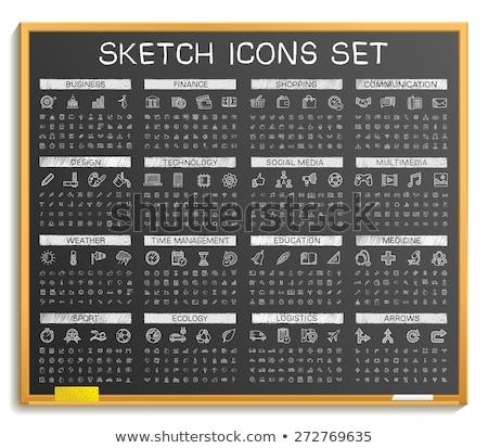 Transportation sketch icon set. Stock photo © RAStudio