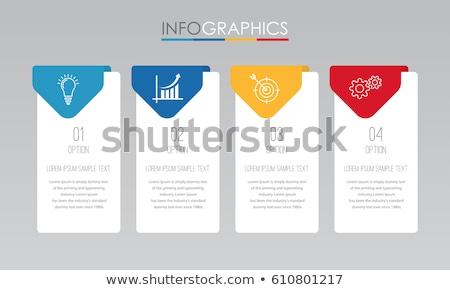 Cztery prostokąt kroki kolor polu czerwony Zdjęcia stock © Oakozhan