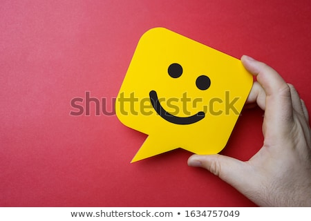 red man with speech bubble stock photo © oakozhan