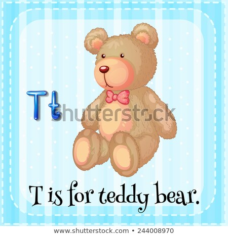 flashcard letter t is for teddy bear stock photo © bluering