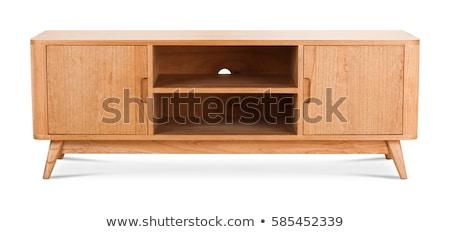 tv · suporte · moderno · isolado · branco · casa - foto stock © elnur