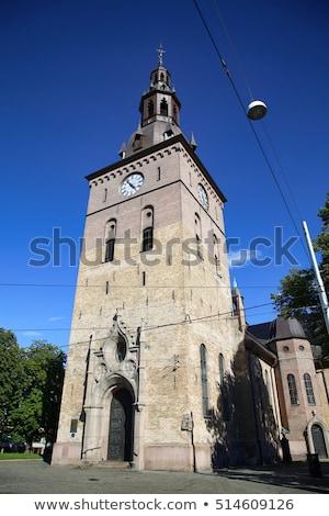 View Oslo cattedrale chiesa centrale Norvegia Foto d'archivio © vladacanon