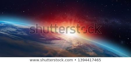 Terra sole effettivo pianeta giallo cielo Foto d'archivio © almir1968
