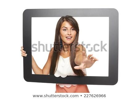 Woman grabbing something Stock photo © szefei