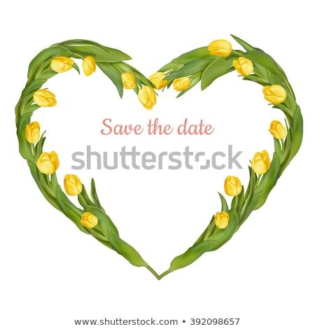 tulips flowers in a heart shape eps 10 stock photo © beholdereye