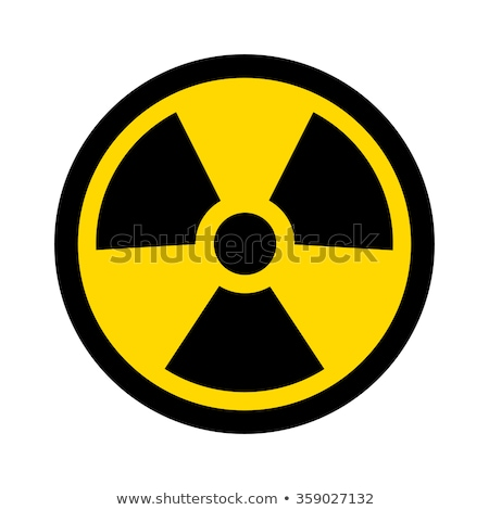 Radioactivity icon flat Stock photo © smoki