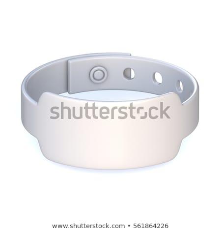 Branco borracha pulseira fechado 3D 3d render Foto stock © djmilic