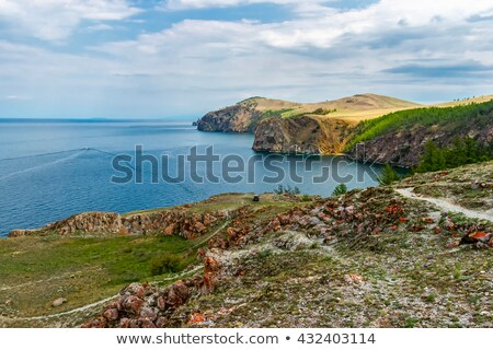 rocky shore  near Cape Khoboy Stock photo © fanfo