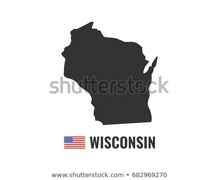 USA · Wisconsin · zászló · fehér · 3d · illusztráció · textúra - stock fotó © tussik