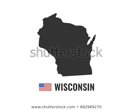 США Висконсин флаг белый 3d иллюстрации текстуры Сток-фото © tussik