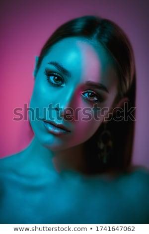 Bella ragazza capelli scuri bella naturale trucco Foto d'archivio © svetography