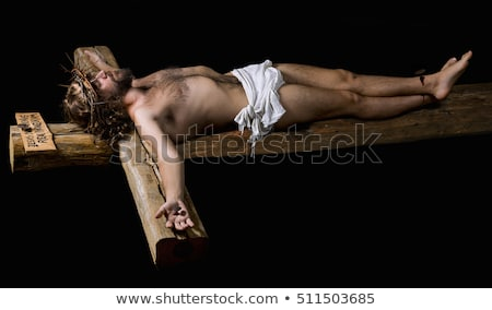 man with a nail and a crown of thorns Stock photo © nito