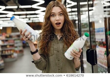 şaşırmış · kadın · yeşil · heyecanlı · Asya - stok fotoğraf © deandrobot
