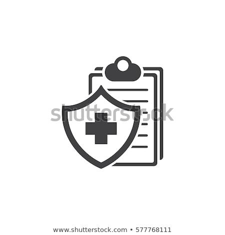 Seguro de saúde ícone projeto isolado ilustração coração Foto stock © WaD