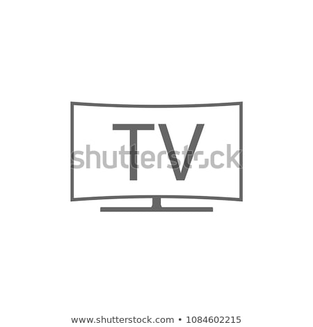 Hdtv line 3D świadczonych ilustracja komputera Zdjęcia stock © Spectral