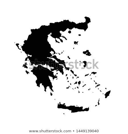 Греция · стране · карта · белый · Европа - Сток-фото © carenas1