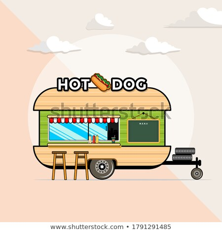Vector cartoon style illustration of postal dog.  Stock photo © curiosity