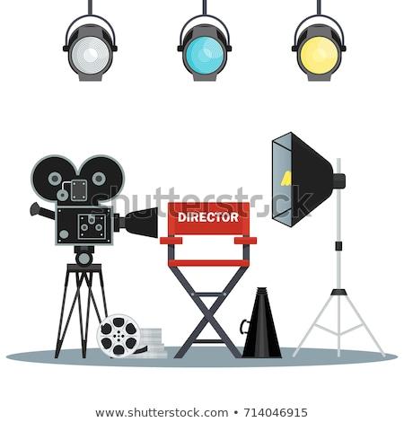 flat style movie directors chair stock photo © curiosity