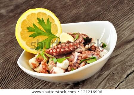 осьминога Салат лимона продовольствие диета Сток-фото © M-studio