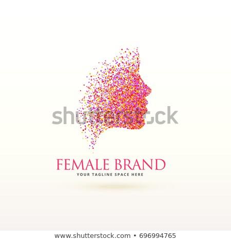 Kadın yüzü logo tasarımı parçacık iş kız renk Stok fotoğraf © SArts