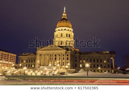 Канзас вход здании США служба зима Сток-фото © benkrut