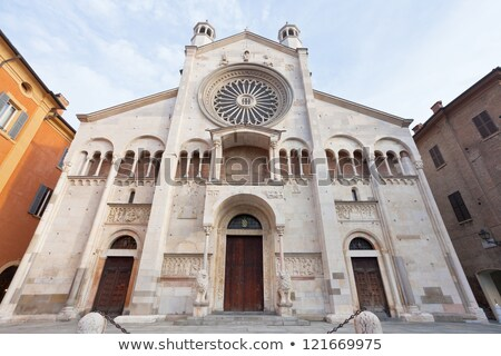 Entrance gate of the Cathedral of Modena, Italy Stock photo © stefanoventuri