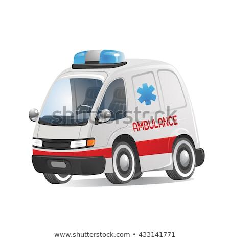 Krankenwagen Auto Karikatur Stil Gesundheitspflege Arzt Stock foto © MaryValery