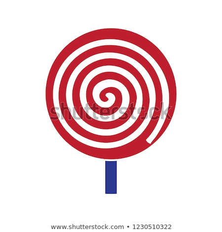 swirl spiral lollipop candy isolated sweet vector stock photo © robuart
