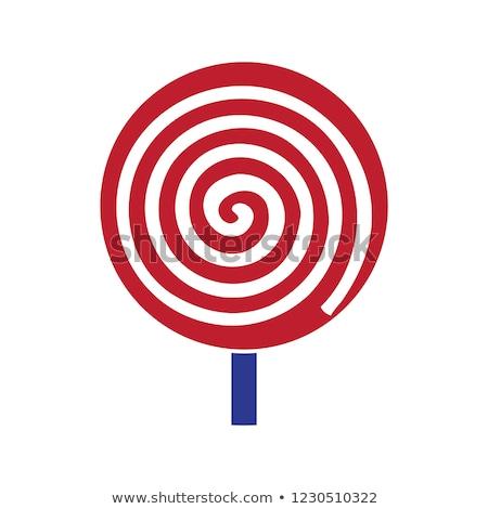 Turbinio spirale lollipop candy isolato dolce Foto d'archivio © robuart