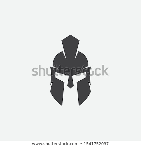 Spartaans helm logo sjabloon vector icon Stockfoto © Ggs