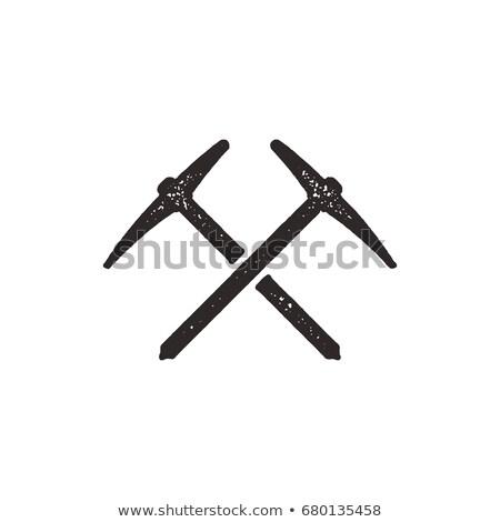 Kézzel rajzolt mászik sziluett ikon szilárd piktogram Stock fotó © JeksonGraphics