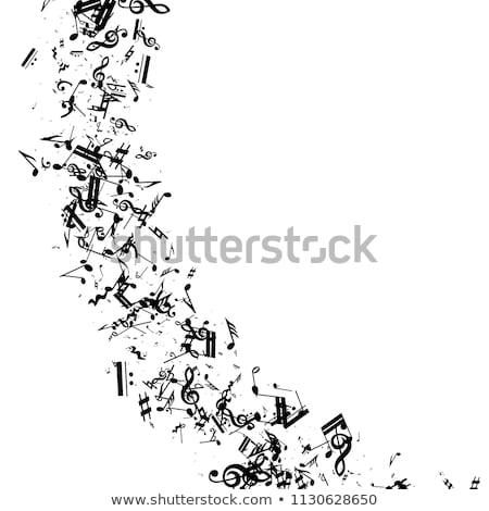 силуэта икона джаза музыку концерта форме Сток-фото © Olena