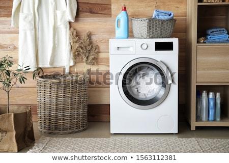 халат стиральная машина белый одевание платье домой Сток-фото © ssuaphoto