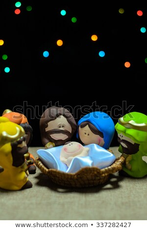 ceramic nativity scene stock photo © homydesign
