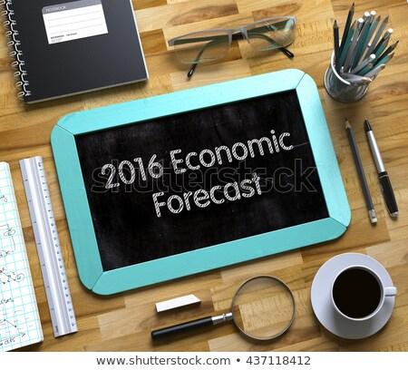 Hand Drawn Economic Forecasting on Office Chalkboard. Stock photo © tashatuvango