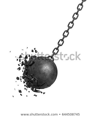 チェーン ボール 3次元の図 男 金属 徒歩 ストックフォト © julientromeur