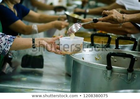 Meleg étel szegény hajléktalan szeretet férfi Stock fotó © wjarek