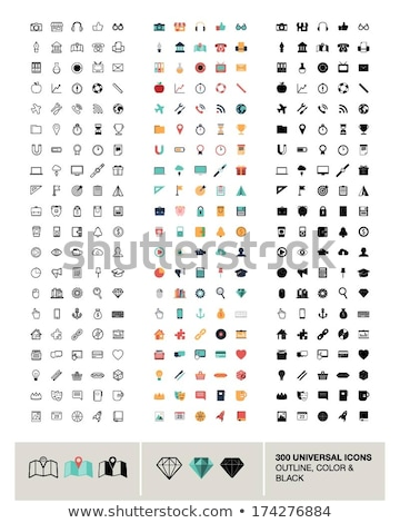 flat icon set diamond stock photo © ekzarkho
