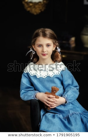 retro style photo of two young beauties stock photo © konradbak