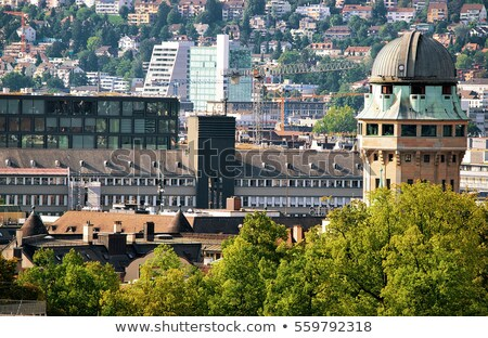 Zürich Schweiz Stadt Kirche Brücke Stock foto © benkrut