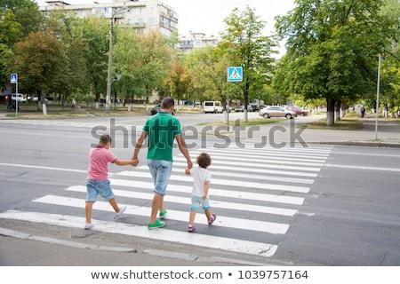 Man on pedestrian zebra street crossing Stock photo © stevanovicigor