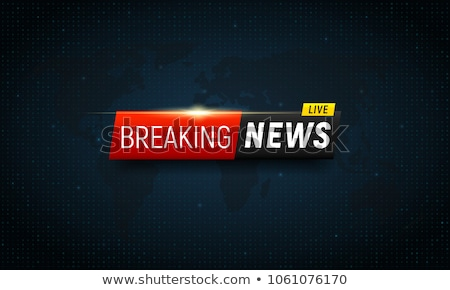 breaking news concept design graphic for tv news channels Stock photo © SArts