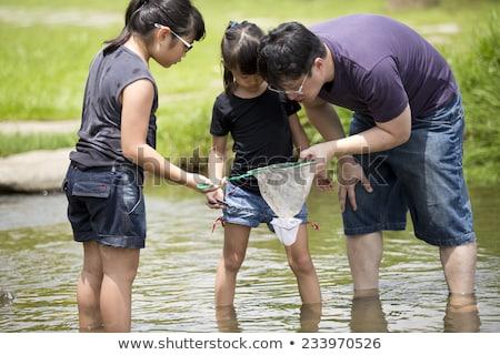 Asya · aile · portre · Çin · rahatlatıcı · park - stok fotoğraf © palangsi