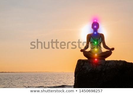 Chakra balancing stenen groep geïsoleerd Stockfoto © wollertz