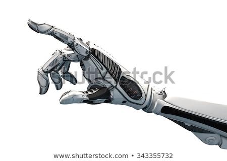 Concept of a robotic mechanical arm. 3D Stock photo © user_11870380