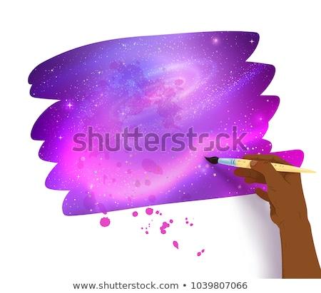 баннер космическое пространство внутри афроамериканец женщины стороны Сток-фото © Sonya_illustrations
